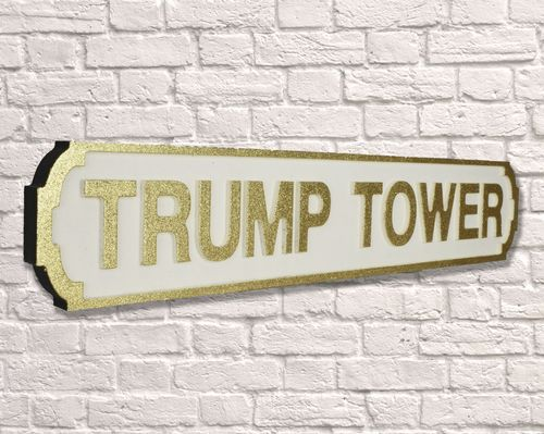 Gold Trump Tower Glitter